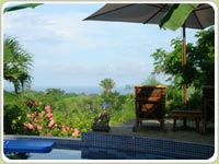 Costa Rca Hotel Finca Los Caballos Nature Lodge, with views to Playa Montezuma Beach, Costa Rica